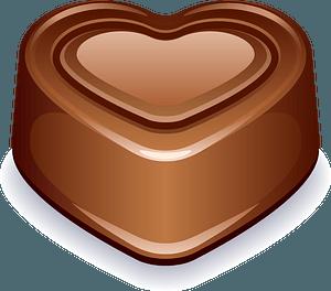 Chocolate heart clipart