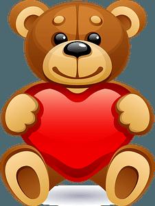 Teddy bear with heart clipart