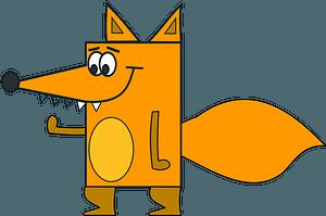 Cartoon fox clipart