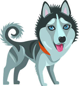 Siberian Husky dog clipart