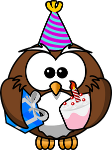 Owl party clipart