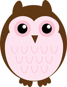 Brown and Pink Owl - Mother clipart