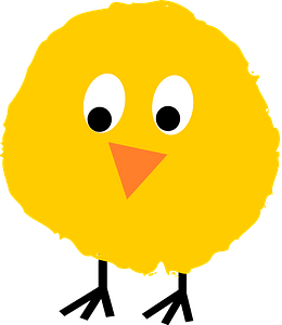Fluffy chick clipart