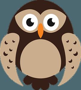 Cartoon owl clipart