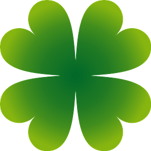 Four-leaf clover clipart