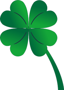 4 leaf clover clipart