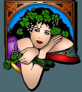 St. Patrick's girl clipart