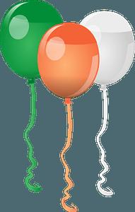 St. Patricks Day balloons clipart