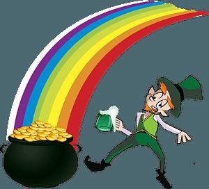 Leprechaun rainbow clipart