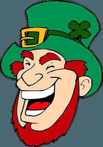 Laughing leprechaun clipart