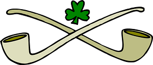 Pipes and shamrock clipart