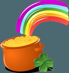 Saint Patrick's Day rainbow clipart