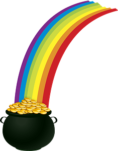 Pot of gold rainbow clipart