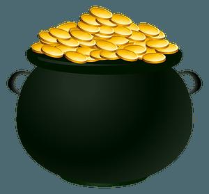 Pot of gold clipart