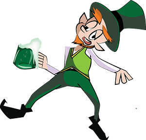 Drunken leprechaun clipart