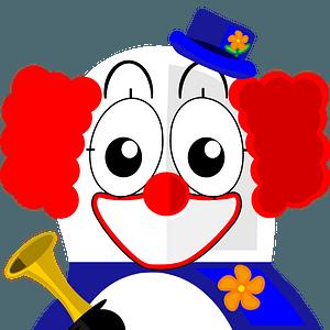 Clown penguin clipart