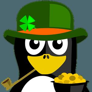Irish penguin clipart