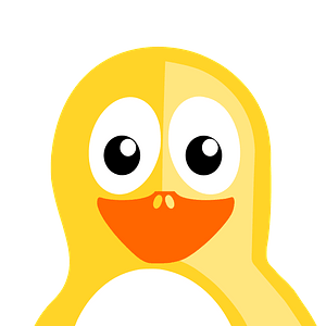 Yellow penguin clipart