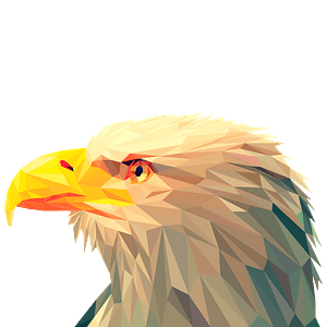 Low poly bald eagle clipart