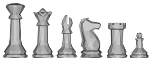Low poly chess pieces clipart