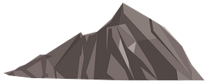 Low poly mountain clipart