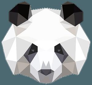 Low poly panda head clipart
