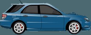 Blue Subaru Impreza WRX Wagon clipart