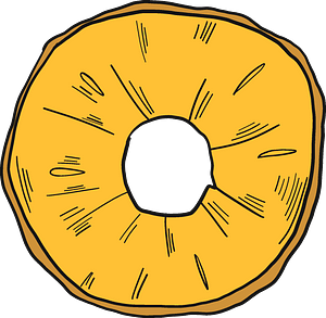 Pineapple ring clipart