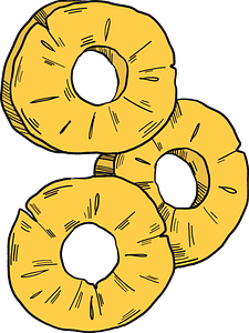 Pineapple rings clipart