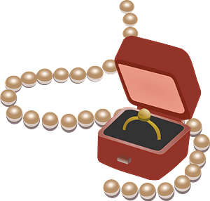 Jewellery box clipart