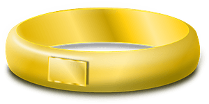 Golden ring clipart