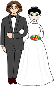 Wedding couple clipart