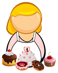 Confectioner, pastry-cook clipart