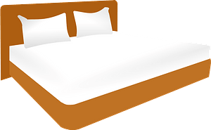 Double bed clipart
