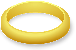 Simple Gold Wedding Band clipart