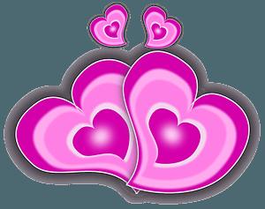 Loving hearts clipart