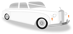 Wedding car clipart