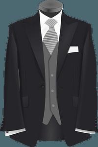 Wedding suit clipart