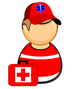 First responder - paramedic clipart
