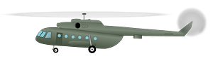 MI17 helicopter clipart