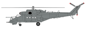 "Mil mi-24 - hind in ""factory gray"" clipart"