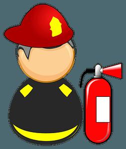 First responder - firefighter clipart
