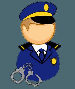 First responder - policeman clipart