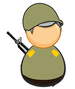 First responder - army / soldier clipart