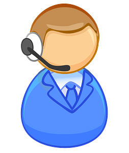 First responder - crisis management operator clipart