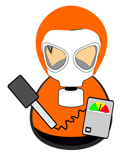 First responder - hazmat team worker clipart