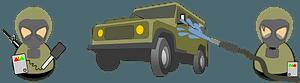 Hazmat military car decontamination clipart