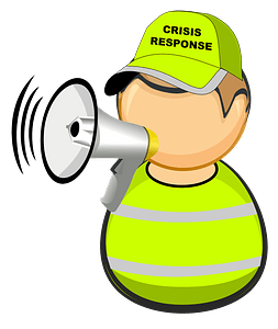 First responder - crisis response worker clipart