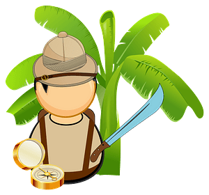 Jungle explorer clipart
