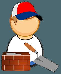 Mason / bricklayer clipart
